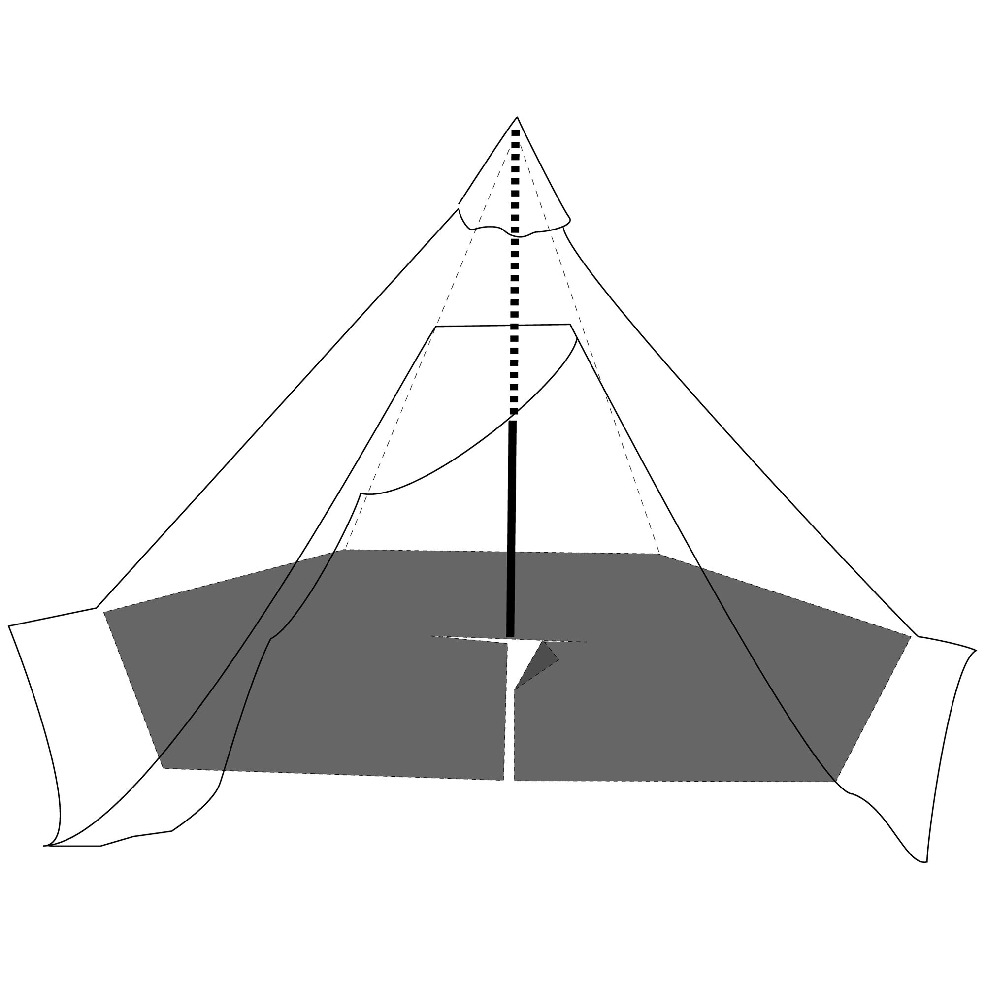Pasvik 4 6 Outer Tent incl. Pole